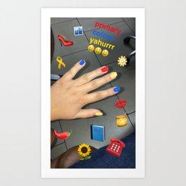 emma chamberlain inspired design Art Print