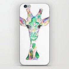 Painting Giraffe iPhone & iPod Skin