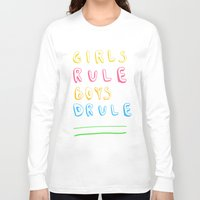 girl power Long Sleeve T-shirts featuring Girl Power by Lovisa Valentino