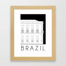 Brazil Facade Framed Art Print