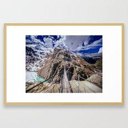 Bridge time Framed Art Print