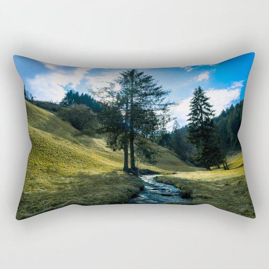 Fields of Green Rectangular Pillow