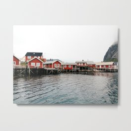 Palafittes in Norway Metal Print