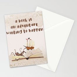 A book is an adventure waiting to happen Stationery Cards