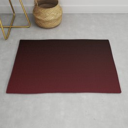 Cranberry and Black Gradient Rug