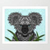 koala Art Prints featuring Koala by ArtLovePassion