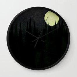 A Moonlit Forest Wall Clock