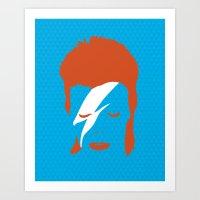 Ziggy Stardust - Blue Art Print