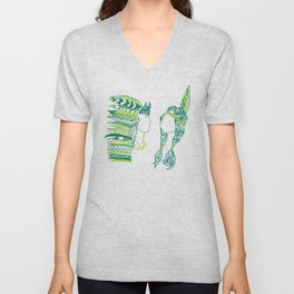 Peter Pan and Tiger Lilly Unisex V-Neck
