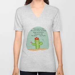 Some people are like cactus flower Unisex V-Neck