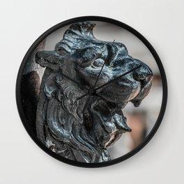 Iron Cat Right Wall Clock