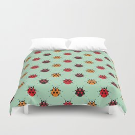 Lady Bug Green Duvet Cover