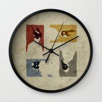 bioshock Wall Clocks featuring Bioshock - Citizens of Rapture by Art of Peach