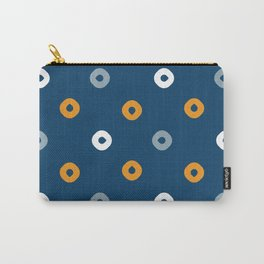 Pattern Play:  Blue Polka Dots Carry-All Pouch