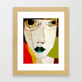 « confuse » Framed Art Print