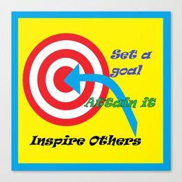 Set a Goal Canvas Print