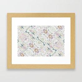 Oriental Floral Ornate Framed Art Print