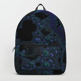 Blue and Black Fractal Backpack