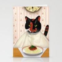 pasta Stationery Cards featuring Pasta! by Studio Holalola by Mariska Pool