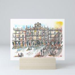 Spain Salamanca Main square Mini Art Print