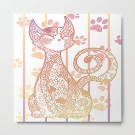 Cat Zen Spirit Metal Print