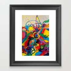 The Disintegration of a Highly Colored Fish Eye Framed Art Print