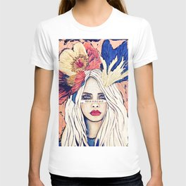 WARRIOR GIRL PAINTING T-shirt
