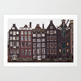 Traditional houses in Amsterdam Art Print