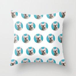 Pop Art Frenchie Throw Pillow