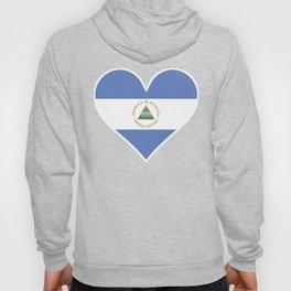 Nicaraguan Flag Heart Hoody