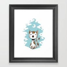 Singing Cat Framed Art Print