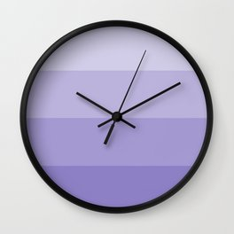 Four Shades of Lavender Wall Clock