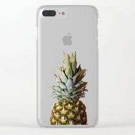 Pineapple Mountain Range Clear iPhone Case