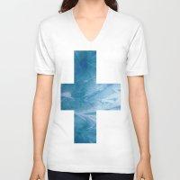 finland V-neck T-shirts featuring Finland by Fernando Vieira