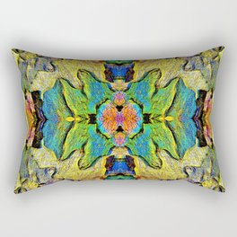 Colorful  Nature Wood Pattern Psychedelic Art Rectangular Pillow