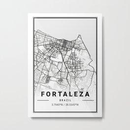 Fortaleza Light City Map Metal Print