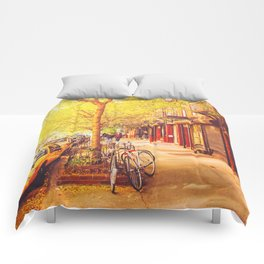 Autumn - East Village - New York City Comforters