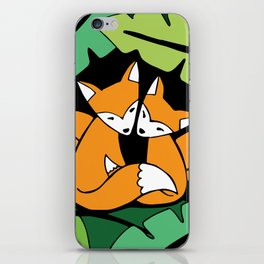 Four Foxes iPhone Skin