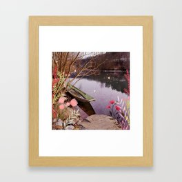 Boat on a River Framed Art Print