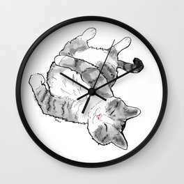 Petoux the Cat, White Wall Clock