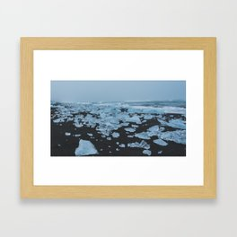 Ice & Sand Framed Art Print