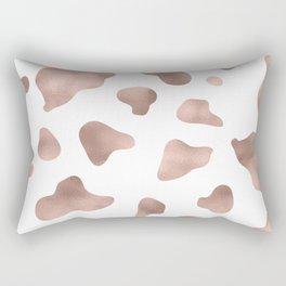 Rose gold cow print Rectangular Pillow