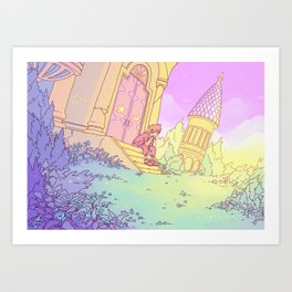 The Mysterious Tower Art Print
