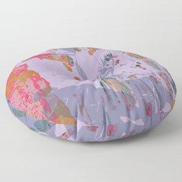 Looking back Floor Pillow