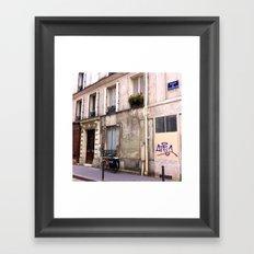 Paris Sidewalks Framed Art Print