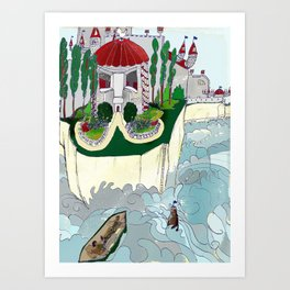 Grey Castle Art Print