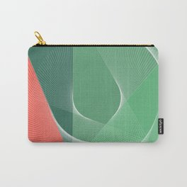 """garden lover"" geometrical minimal green art Carry-All Pouch"