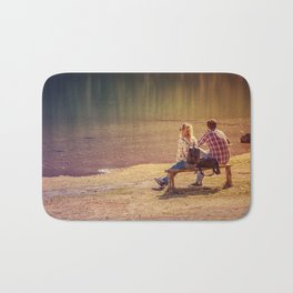 Two lovers admiring the beauty of nature Bath Mat