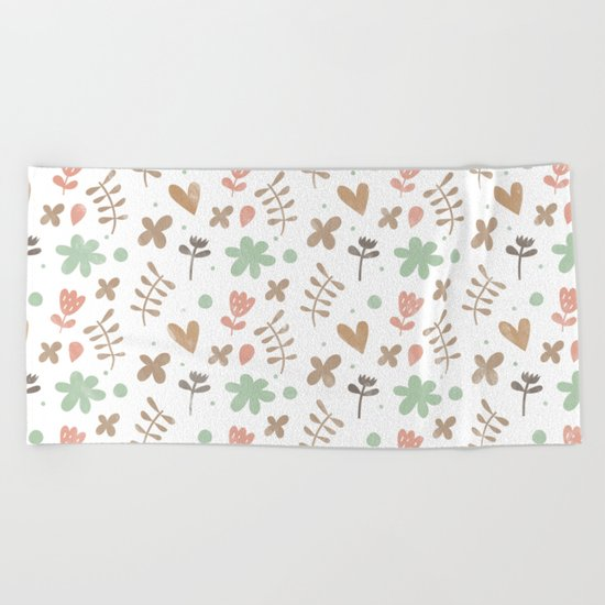 Colorful Lovely Pattern II Beach Towel