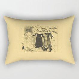 Paul Gauguin - The Joys of Brittany (1889) Rectangular Pillow